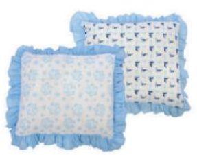 Travesseiro Composê Babado Azul Minasrey- Infantil
