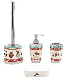 Kit Imporiente para Banheiro - Coruja
