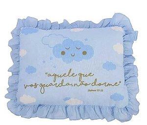Travesseiro Frase Alvinha Azul Minasrey- Infantil