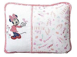 Travesseiro Disney Bordado Rosa Minasrey- Infantil