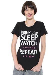 Camiseta Coca-Cola Jeans Lettering Feminina