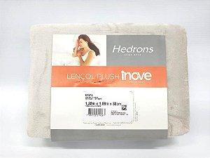 Lençol Plush Liso Casal - Off White - Hedrons