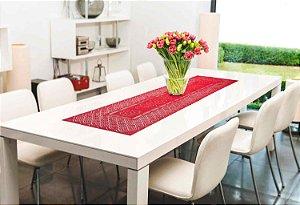 Trilho de Mesa Color Vermelho 40 X 150 - Interlar
