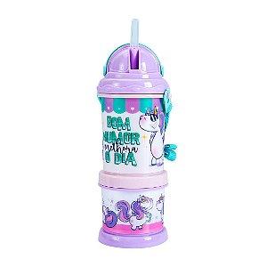 Squeeze Canudo Pop Com Potinho - Unicornio do Dia