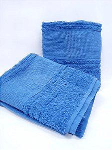 Toalha de banho azul Etamine - Camesa
