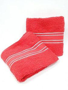 Toalha de banho vermelho Linea - Camesa