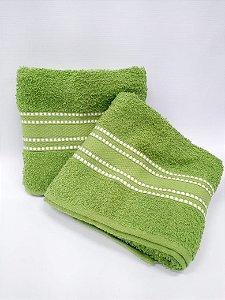 Toalha de banho verde Linea - Camesa