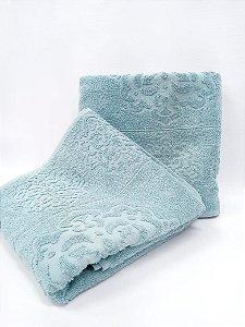Toalha de banho azul Agra - Camesa