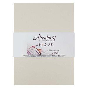 Lençol Com Elástico Solteiro King Unique - Bege Off White Altenburg