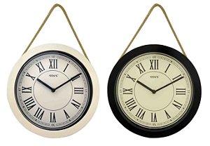 Relógio de Parede Redondo Vintage - Imporiente