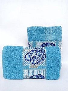 Toalha de rosto naturae azul - Camesa