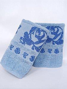 Toalha de rosto azul Gala - Camesa