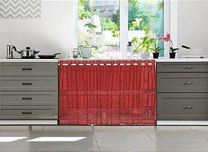 Cortina Color Vermelha 2m X 80cm  - Interlar