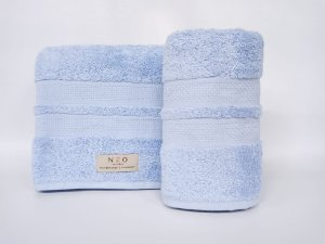 Toalha de rosto Neo Clássico azul - Camesa
