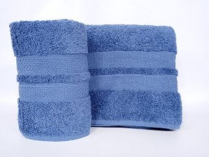Toalha de rosto Neo Clássico azul escuro - Camesa