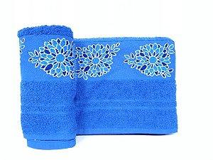 Toalha de rosto Dalia azul - Camesa
