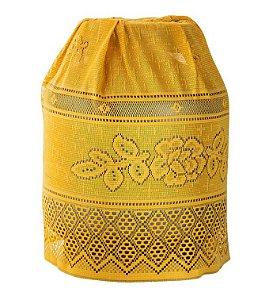 Capa Para Botijão Amarelo de Renda 50 X 120 - Interlar