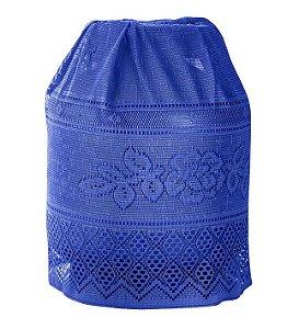 Capa Para Botijão Azul de Renda 50 X 120 - Interlar