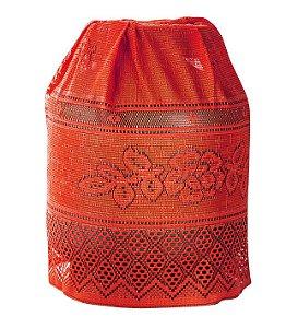 Capa Para Botijão Vermelho de Renda 50 X 120 - Interlar