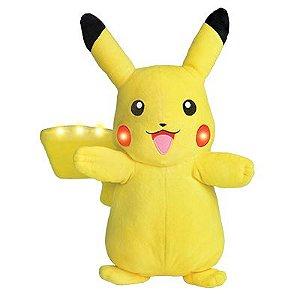 Pelúcia Pokémon Pikachu Com Som e Luz - Dtc