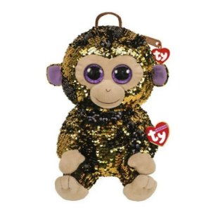 Bolsa De Pelúcia Paetê Ty Fashion Macaco - Dtc