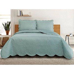 Colcha de cama Queen Tressê turquesa - Camesa
