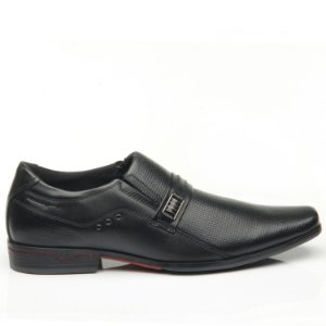 Sapato Masculino Em Couro Preto - Pegada