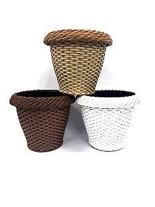 Vaso De Plastico e Fibra Sintética 3151 - Mara Vasos