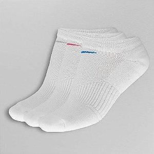 Meia Nike Performance Cushion Cano Baixo 3 pares - Branco