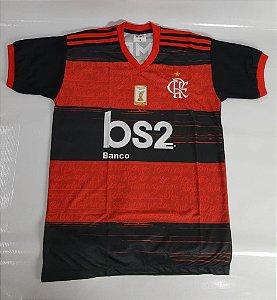 Camisa do Flamengo Infantil Preto e Vermelho - Ginga