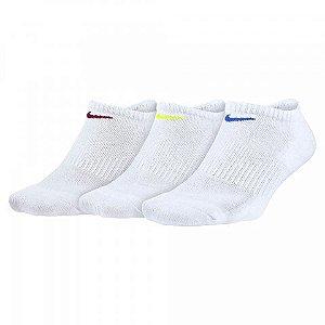 Meia Nike Performance Cushion Sem Cano 3 Pares - Branco