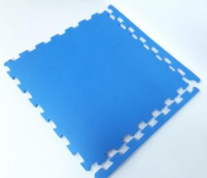 Tatame Tapete Eva 50X50x10mm Azul Royal