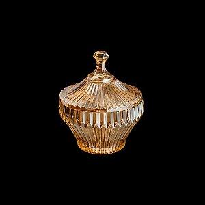 Potiche De Cristal Renaissance Âmbar 17,5 cm x 20 Cm - Coliseu