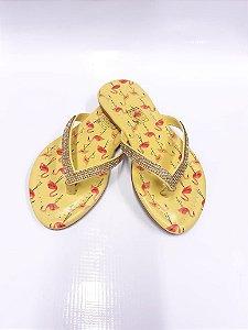 Rasteirinha Infantil Napa Amarelo - Addan