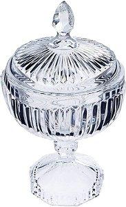 Potiche De Cristal Com Pé Elisabeth 15 cm x 26 cm - Coliseu