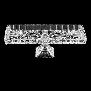 Travessa Cristal Com Pé Dragon Lyor 34 cm x 15 cm x 10,5 cm - Coliseu