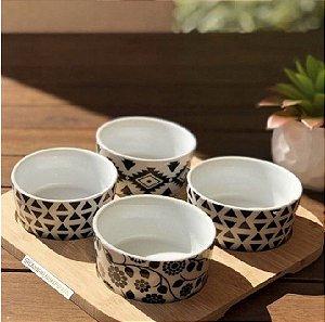 Conjunto Bandeja De Bambu 22 cm Com 4 Petisqueiras De Cerâmica Lyor - Coliseu