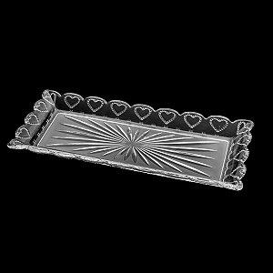 Travessa De Cristal Heart 43 cm x 16,5 cm x 3,5 cm Lyor - Coliseu