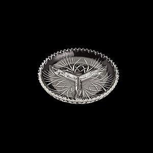 Petisqueira De Cristal Com 3 Divisórias Alberta Lyor 22cmx3,5cm - Coliseu