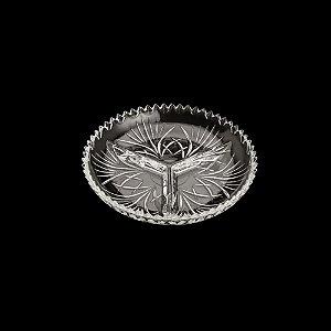 Petisqueira De Cristal Com 3 Divisórias Alberta Lyor 34x4cm - Coliseu