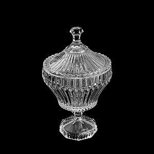 Potiche De Cristal Com Pé Renaissance Transparente 17,5x28,5cm Lyor - Coliseu