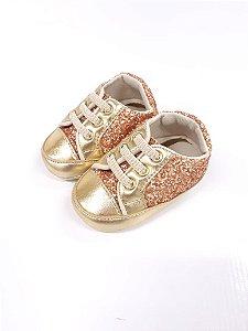 Tênis Baby Feminino Dourado - Peknin
