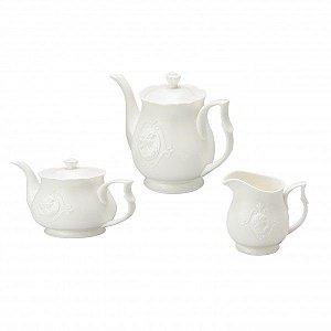 Conjunto Para Chá E Café De Porcelana Super White 3 Peças Lyor - Coliseu