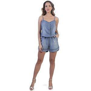 Macaquinho Sawary Jeans Feminino - 263662
