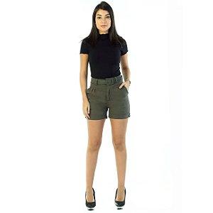 Short Sarja Feminino-Verde 264027