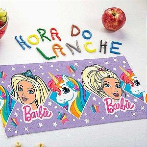 Toalha de Lancheira Lepper - Barbie e Unicórnio