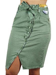 Saia Jeans Verde Feminina Sawary