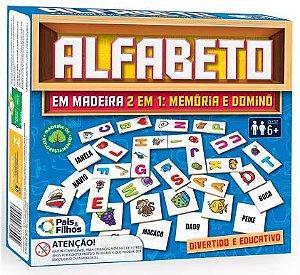 Jogo Alfabeto Em Madeira 51 Peças - Pais E Filhos