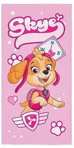 Toalha de Banho Infantil Aveludada Lepper - Patrulha Canina Rosa