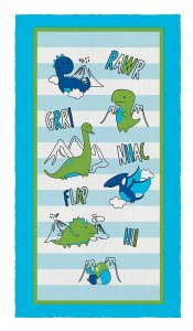 Toalha de Banho Felpuda Lepper - Dino